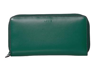 Lodis Accessories Audrey Under Lock Key RFID Perla Zip Wallet (Ivy/Deep Plum) Wallet Handbags