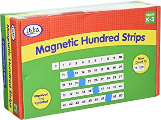 Didax Educational Resources Magnetic Hundred Strips to 120