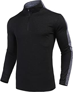 COOFANDY Men 1/4 Zip Athletic Pullover Long Sleeve Dry Fit Running Active Shirts
