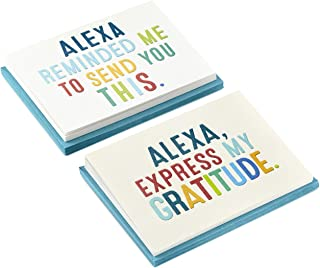 Hallmark Amazon Alexa Thank You Cards Assortment (20 Thank You Notes with Envelopes for All Occasions) (5STZ1050)