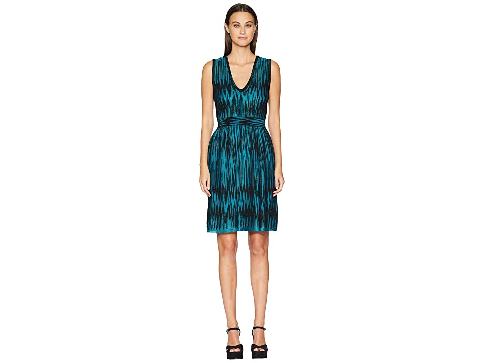 M Missoni Bicolor Devore Dress (Teal) Women
