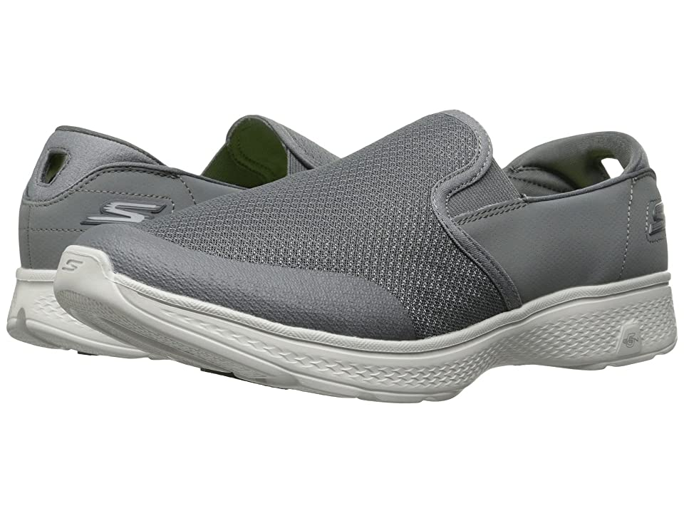 SKECHERS Performance Go Walk 4 Contain (Charcoal) Men
