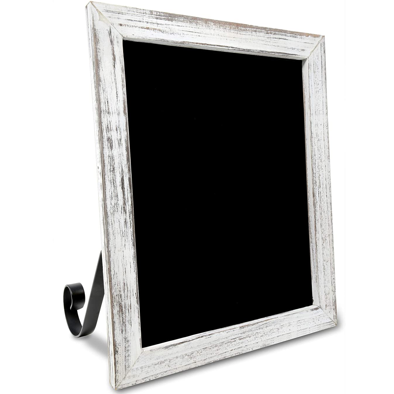 TenXVI Designs 11x13 Hanging or Freestanding Vertical/Horizontal Magnetic Tabletop/Countertop Rustic Chalkboard Sign for Weddings, Farmhouses, Restaurants and Home Decor – White
