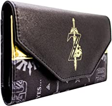 Legend of Zelda Breath of the Wild Gold Sword Black Tri-Fold Purse