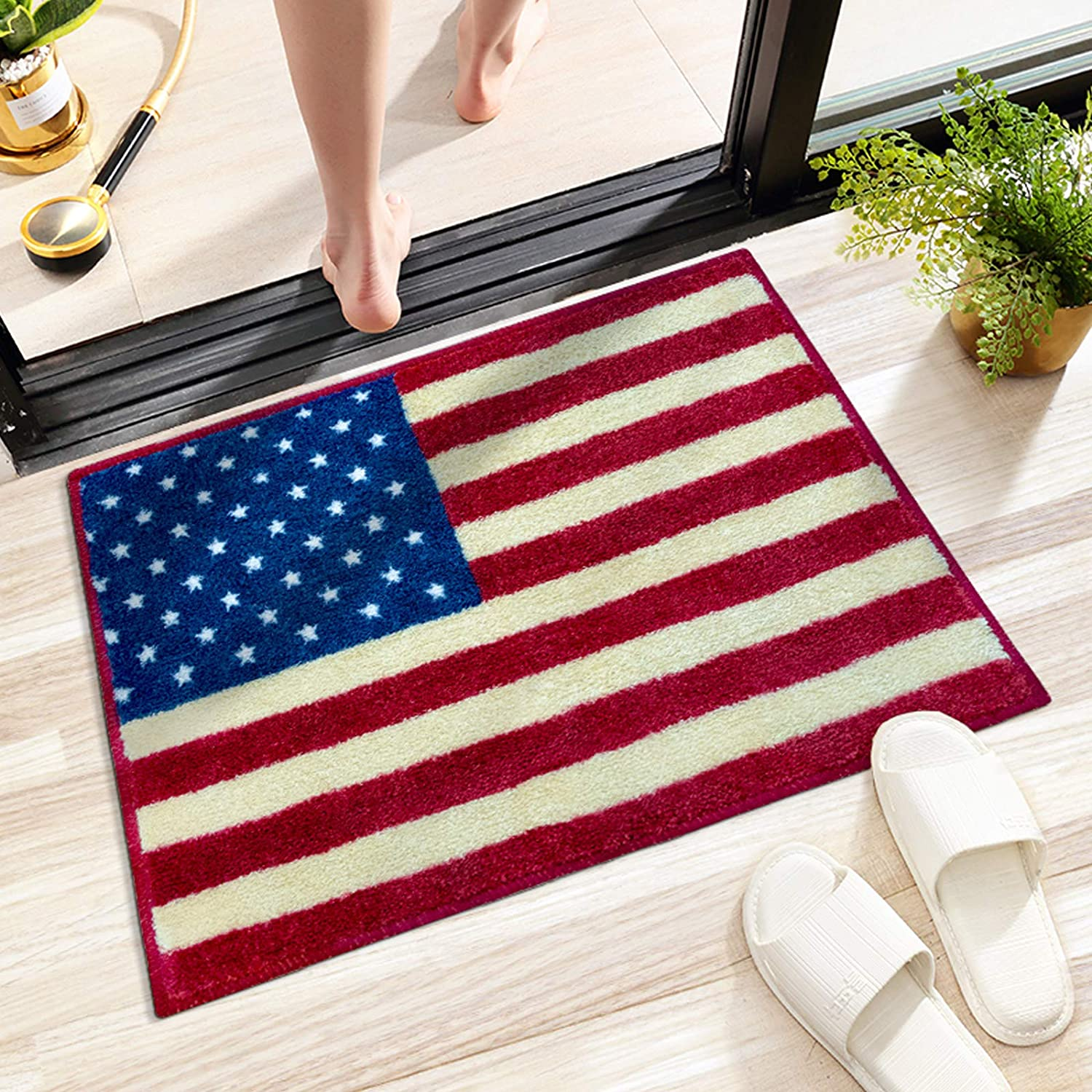 Topics on Brand new TV American Flag Bath Mats Red White Bathroom Blue and Rugs Small f