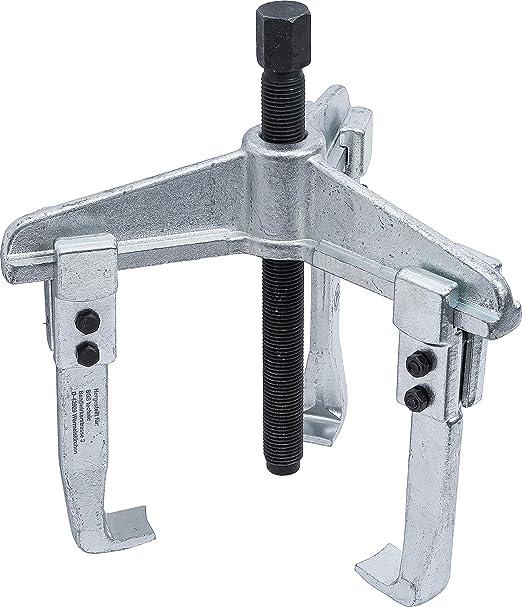 Silver//Black Kraftmann 93-3 2-Legs Parallel Jaw Puller 250 x 200 mm