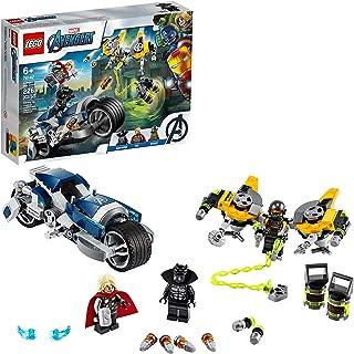 LEGO 76142 Marvel Avengers Speeder Bike Attack  Black Panther and Thor Building Kit