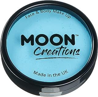 Moon Creations Pro Face Paint Cake Pot, Light Blue, 36g Single