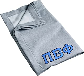 Pi Beta Phi Sweatshirt Blanket with Twill Greek Letters (Blue Greek Letters)