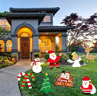 LSKOO Christmas Outdoor Yard Signs Decorations -Xmas Holiday Winter Wonderland Yard Sign Outdoor Lawn Yard Decorations