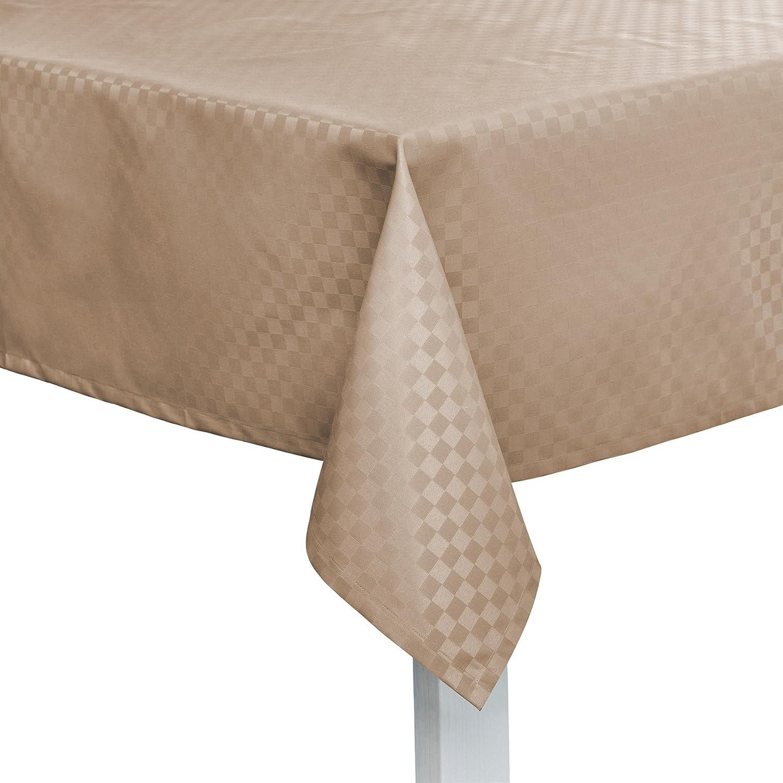Pichler CASA abwischbare Tischdecke nach Ma taupe (eckig 170x130cm)
