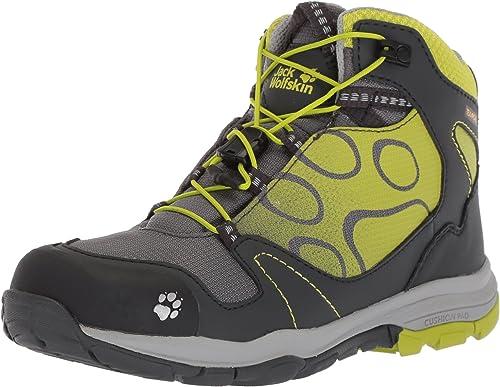 Jack Wolfskin Akka Texapore Mid B Wasserdicht Chaussures de Randonnée Hautes Garçon, Vert (Lime) 30 EU