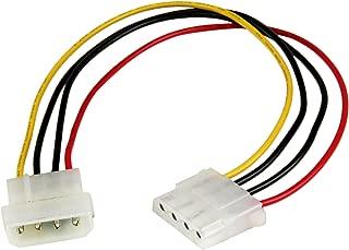 StarTech.com 12in Molex LP4 Power Extension Cable M/F - 4 pin Molex Power Connector - 4 pin Power Extension Cable - LP4 Power Cable (LP4POWEXT12)
