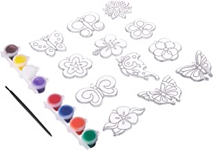 New Image Group SGP-89 Suncatcher Group Activity Kit, Butterfly and Flowers, 12-Pack