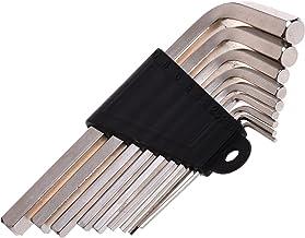 طقم مفتاح سداسي الشكل على شكل حرف L من كوزموس، طقم مفك براغي، 9 مقاسات