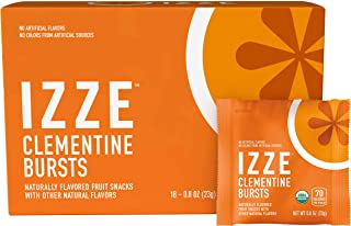 Izze Bursts Organic Fruit Snacks, Clementine, 0.8oz Pouches, 18 Count (Halloween Pack)