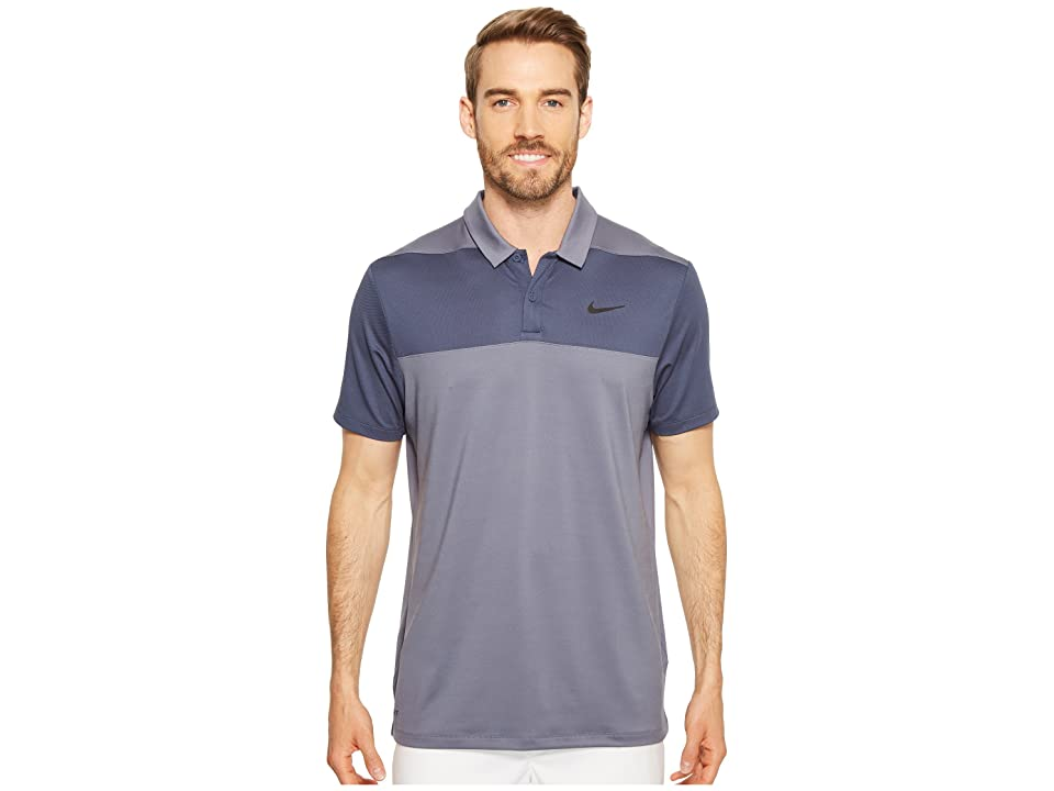 Nike Golf Color Block Dry Polo (Light Carbon/Thunder Blue/Flat Silver) Men