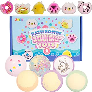 Sponsored Ad - Bath bombs with Squishy Toys, 6 Packs Bubble Bath Bombs with Squishy toys SPA Bath Fizzies Set, Great Gift ...
