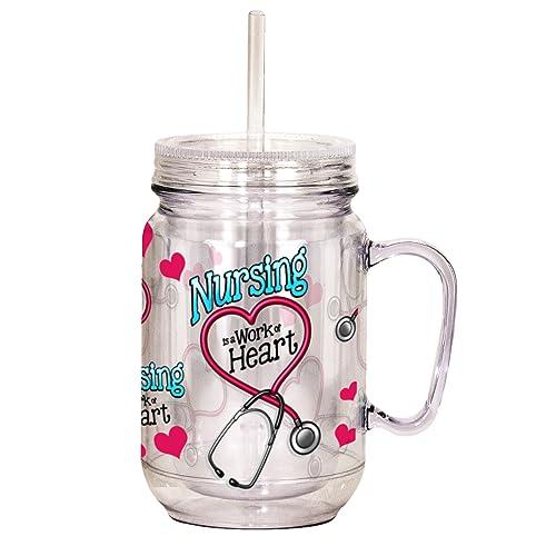 ea5e37a1336 Spoontiques Nurse Mason Jar, Pink