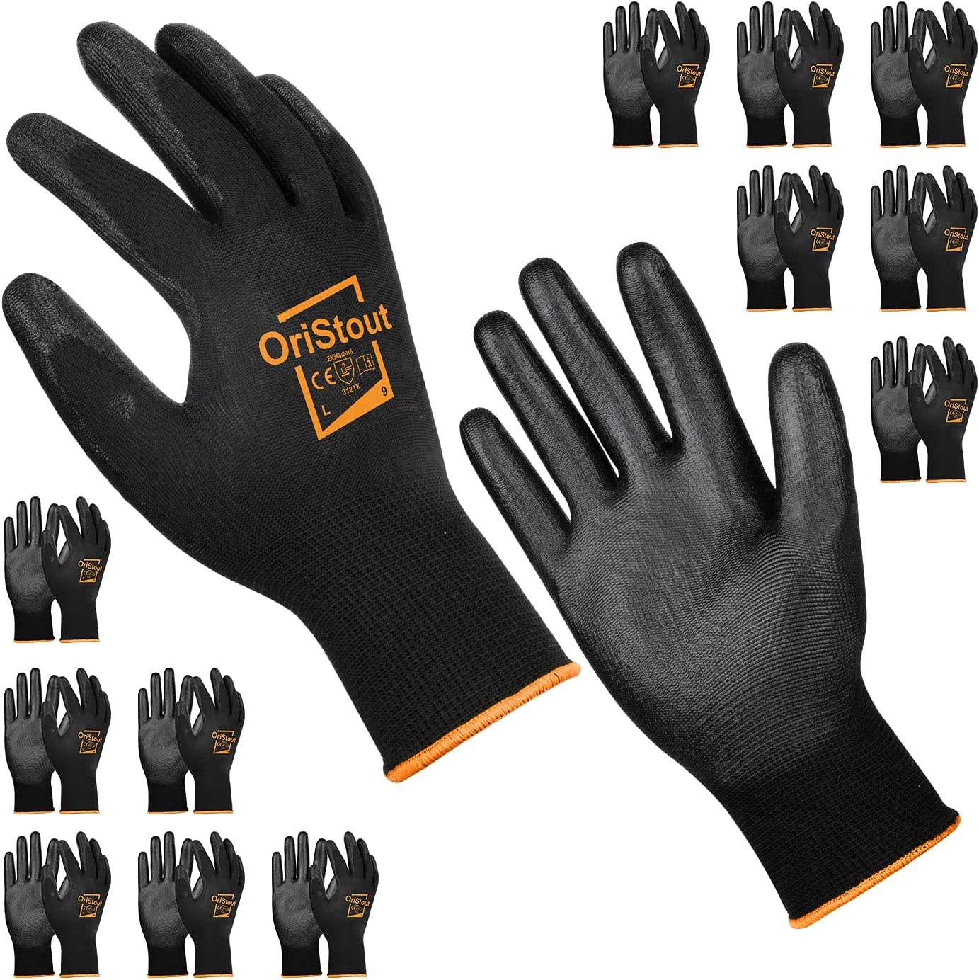 OriStout 12 Pairs Thin Work Gloves Men New life Bulk Pack Br Lightweight Detroit Mall