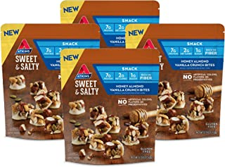 Atkins Sweet & Salty Honey Almond Vanilla Crunch Bites (Pack of 4)