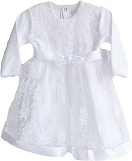 Three Snails Baptism 连衣裙女婴洗礼白色连衣裙新生儿