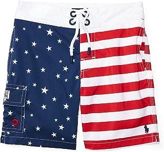 RALPH LAUREN Baby Boy Kailua Flag Swim Trunk American Flag