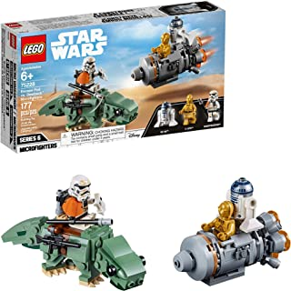 LEGO Star Wars: A New Hope Escape Pod vs. Dewback Microfighters 75228 Building Kit, New 2019 (177 Pieces) (Renewed)