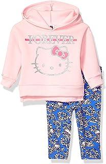 Hello Kitty baby-girls Hello Kitty Girls 2 Piece Sweatshirt and Pant Legging Set Sweatshirt
