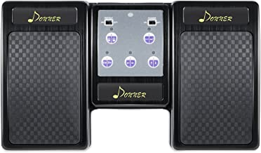 Donner Wireless Page Turner Pedal for Tablets iPad Rechargeable, Black