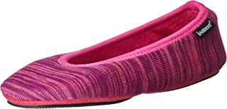 Women's Sport Knit Foldable Travel Ballerina Slipper with Carrying Pouch
