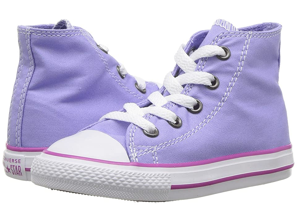 Converse Kids Chuck Taylor(r) All Star(r) Seasonal Hi (Infant/Toddler) (Twilight Pulse/Hyper Magenta/White) Girl's Shoes