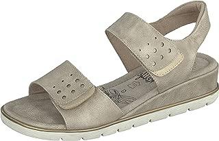 Relife® Damen Klett Sandalen, beige Größe 36 | 1 2 3.tv