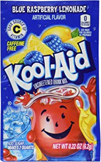 Kool-Aid Twists Soft Drink Mix - Ice Blue Raspberry Lemonade Unsweetened, Caffeine Free, 0.22 oz/envelope (Pack of 12)