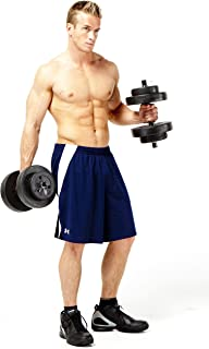Marcy 40 Pound Vinyl Dumbbell Set with Adjustable Weights - Weight Set for Weightlifting and Body Building VB-40