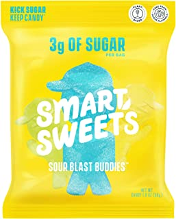 Sponsored Ad - SmartSweets Sour Blast Buddies, Candy with Low Sugar (3g), Low Calorie, Plant-Based, Free From Sugar Alcoho...
