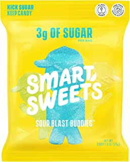 SmartSweets Sour Blast Buddies, Candy with Low Sugar (3g), Low Calorie, Plant-Based, Free From Sugar Alcoho...
