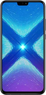 "Huawei Honor 8X (64GB + 4GB RAM) 6.5"" HD 4G LTE GSM Factory Unlocked Smartphone - International Version No Warranty JSN-L23 (Black)"
