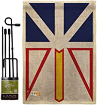 Americana Home & Garden GS140936-DB Newfoundland Burlap Flags of The World Canada Provinces Impressions Decorative Vertical 13