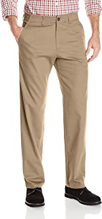 Haggar Men's in Motion Rambler Straight Fit Flat Front Athleisure Casual Pant
