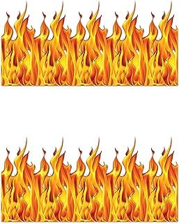 Beistle S00899AZ2 Flame Backdrop 2 Piece, Multicolored