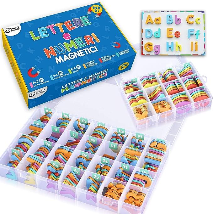 585 opinioni per Smart Panda Lettere e Numeri Magnetici per Bambini – Il Set Completo: 182