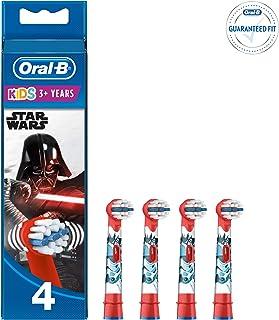 """Oral-B Kids Końcówki do szczoteczek elektrycznych z postaciami z filmu """"Star Wars"""", """"Gwiezdne Wojny"""", 4 sztuki"""