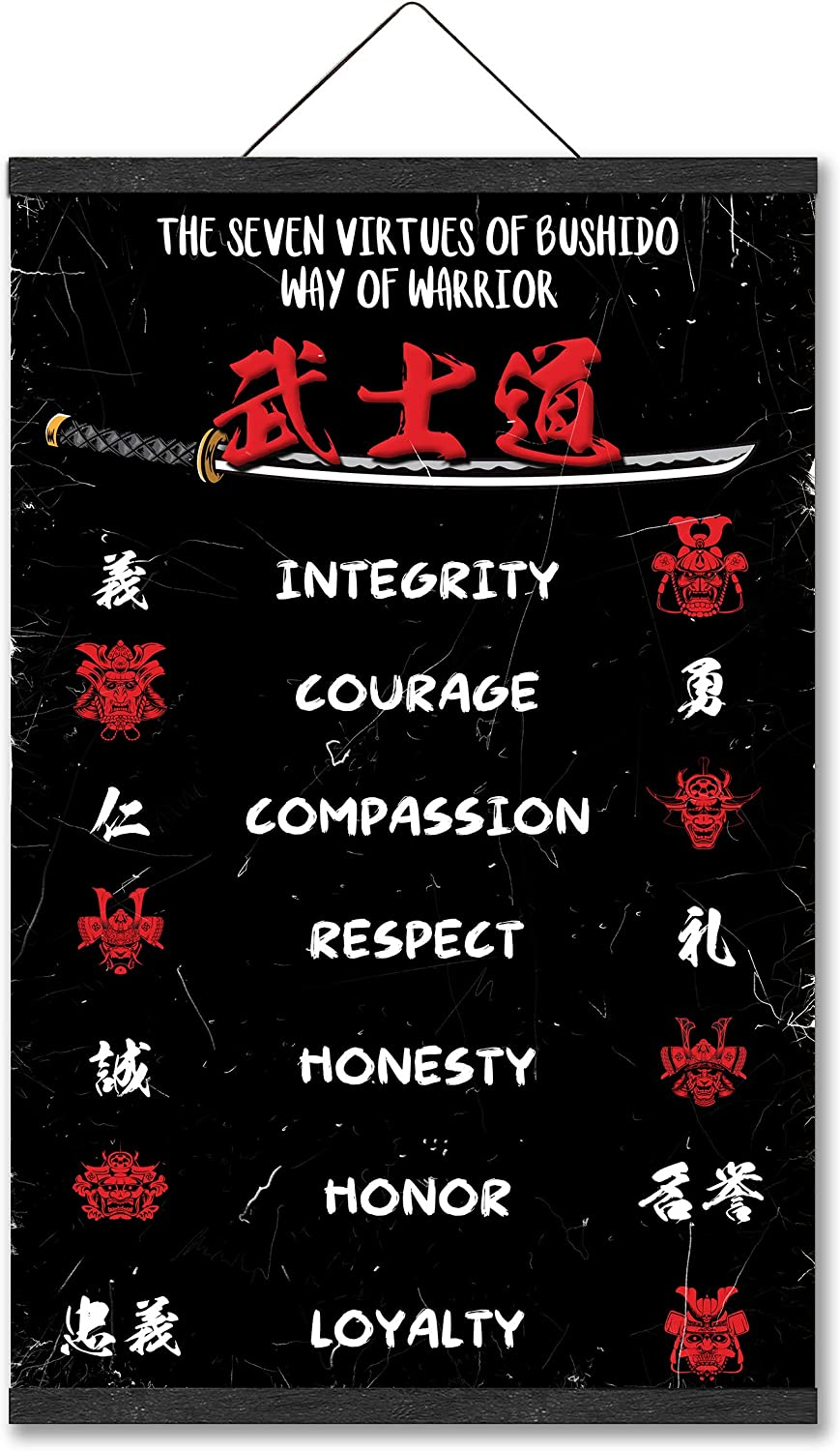 Japanese Samurai Poster Warriros At the price of surprise Quotes price The of 7 Virtues