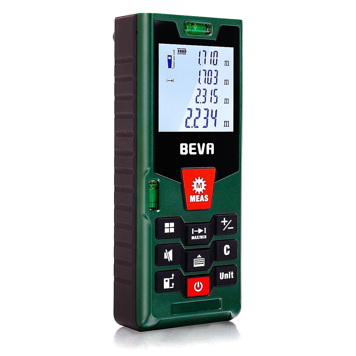 インディカ起きる電気的BEVA レーザー距離計 最大測定距離60M 距離/面積/体積/ピタゴラス間接測定/連続測定 自動計算 軽量距離計測機