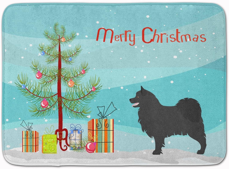 Caroline's Treasures Swedish Lapphund Christmas Floor Mat, 19hx27w, Multicolor