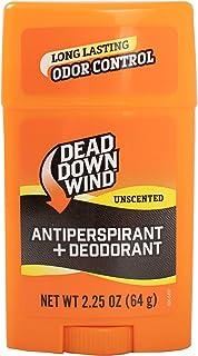 Dead Down Wind Men's Antiperspirant Deodorant Stick | 2.25 Ounce | Unscented, Long Lasting, Organic Odor Eliminator, Safe ...