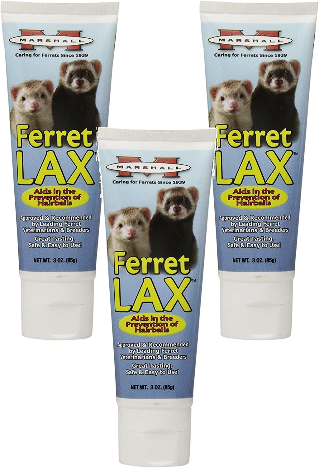 (3 Pack) Marshall Pet Products Ferret Lax Hairball and Obstruction Remedy 3Ounces each