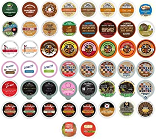 Coffee Single Serve Cups For Keurig K cup Brewers, Variety Pack Sampler (Mixed, 50 Count)
