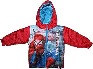Manteau avec Capuche et Boutons Rouges Cape Petit Gar/çon avec D/étails Gris PERLETTI Marvel Spiderman Poncho Enfant Rouge Longue Cape de Pluie Spider Man Imperm/éable en EVA